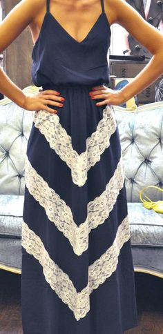 Chevron lace maxi