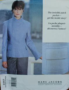 1990s Designer Jacket by Marc Jacobs Vogue by patterntreasury, $28.95