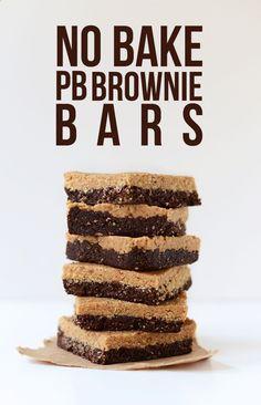 No Bake Peanut Butter Brownies   Minimalist Baker