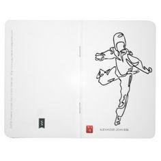 #Notebook of pocket TAEKWONDO DWICHAGI back kick 02 - #office #gifts #giftideas #business