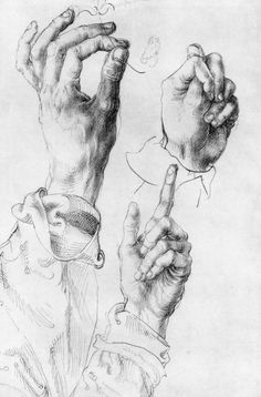 Durer — Study of Three Hands, Albrecht Durer .Albrecht Durer — Study of Three Hands, Albrecht Durer . Life Drawing, Figure Drawing, Drawing Sketches, Painting & Drawing, Art Drawings, Drawing Hands, Body Drawing, Caravaggio, Chef D Oeuvre