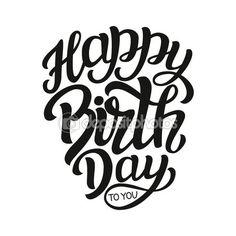 Modèle de lettres Happy Birthday typographie — Illustration #107983604