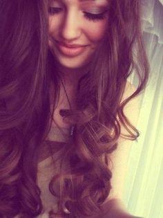 Heat-less curls? Its easy, use a sock like a hair roller overnight, unroll in the morning... Wah-la! Heatless curls ;)