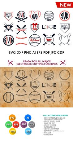 Free Baseball SVG Files for Cricut Monogram Cricut Monogram, Monogram Frame, Cricut Vinyl, Svg Files For Cricut, Business Branding, Shilouette Cameo, Stencil, Freebies, Silhouette Cameo Projects