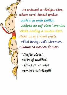 školka Under Wear o'neill underwear Happy House, Stone Crafts, Early Education, Play To Learn, First Day Of School, Primary School, In Kindergarten, Holidays And Events, Kids And Parenting