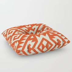 Navajo pattern floor pillow.  By Triballer