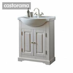 White shabby bathroom furniture - Castorama