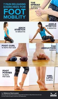 7 Pain-Releasing Exercises for Your Achy Feet - yoga & Workout - Pilates Fitness Workouts, Yoga Fitness, Fitness Motivation, Physical Fitness, Fitness Logo, Running Motivation, Training Fitness, Dance Fitness, Running Workouts