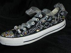 Custom Bedazzled Converse / Personalized Low by TheCraftyChemist07, $125.00