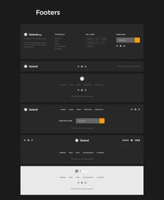 Design website footer 67 new Ideas Wireframe Design, Footer Design, Web Design Tips, Page Design, Ux Design, Navigation Design, Minimal Web Design, Form Design, Footer Web