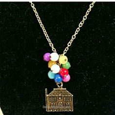 Cute Whimsical Up inspired necklace.  http://www.delladetrends.win/2017/07/23/cute-whimsical-up-inspired-necklace/