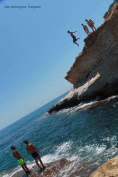 """""""Divers"""" --  There are a lot of spectacular and beautiful places in El Campello. This is the case of the site known as Lobo Marino cave filled with stories of treasures and pirates. I enjoyed some crazy jumps by youngsters. Awesome."""