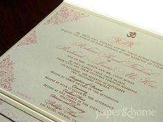 Indian Wedding Invitations Las Vegas: Indian Pocket Wedding Invitation on Shimmer Paper. #pinoftheday