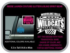 WILDCATS BASKETBALL Decal - Personalize With Your School/Team Name, Your Name, and CHOICE of Colors for no additional charge by ReeseLaurenCouture on Etsy
