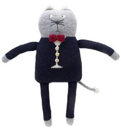 Plush Cat Doll | Petit Fournier | Wool Theo Cat | Brimful Baby Toys