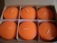 Xmas Candle ▽フロートキャンドル オレンジ大 6個▽クリスマスパーティ ハンドメイド インテリア 雑貨 Handmade ¥500yen 〆12月29日