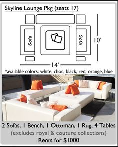 lounge pkg options