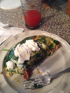 Loaded Veggie Egg White Omlette