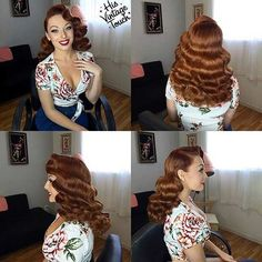 Retro Hairstyles 21 Pin Up Hairstyles That Are Hot Right Now - Retro Hairstyles, Wedding Hairstyles, Pin Up Hairstyles, Vintage Hairstyles For Long Hair, Vintage Hairstyles Tutorial, Hairstyles Videos, Formal Hairstyles, Weave Hairstyles, Straight Hairstyles