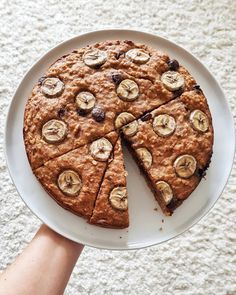 Vegan chocolate chip banana bread cake! 🍌🍫 and who wants the recipe?