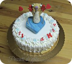 Funny cake to ridicule the weaknesses of her lover...