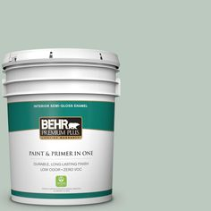 BEHR Premium Plus 5-gal. #N420-2 Mountain Falls Semi-Gloss Enamel Interior Paint