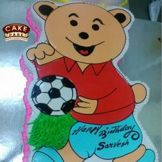 Surprise your friend who loves soccer by presenting this Soccer Teddy Cake from Cake Park. #Birthdaycakes #Photocakes #Customizedcakes #Photocakes #Kidscakes For more #photocakes : http://www.cakepark.net/photo-cakes.html Call us: +91-44-4553 5532