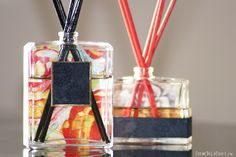 Perfume Bottle turn Oil Diffuser, Crème de la Craft   DIY projects made from everyday objects.