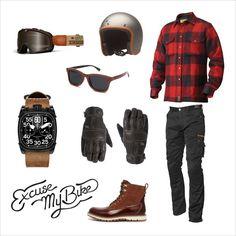 Lumberjack bucheron excuse my bike Estilo Cafe Racer, Cafe Racer Style, Bike Style, Moto Style, Motorcycle Style, Motorcycle Outfit, Motorcycle Clothes, Triumph Motorcycle Clothing, Ducati Scrambler