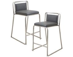 Grey LumiSource Cascade Stackable Counter Stool - Set of 2. www.DEQOR.com