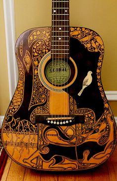 Sharpie Guitar #4 by Telltale Crumbs, via Flickr