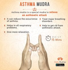 Mudra to relieve an asthmatic attack Asthma Symptoms, Natural Asthma Remedies, Ayurvedic Remedies, Reiki Angelico, Essential Oils For Asthma, Chakra Meditation, The Cure, Mantra, Yoga Exercises