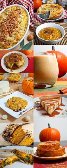 25 Outstanding Pumpkin Recipes by Closet Cooking Thanksgiving Recipes, Fall Recipes, Sweet Recipes, Holiday Recipes, Happy Thanksgiving, Yummy Recipes, Good Food, Yummy Food, Pumpkin Dessert