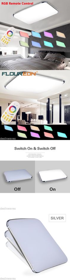 Lamps And Lighting 48W Rgb Dimmable Led Ceiling Light Living Room Fixtures With Remote
