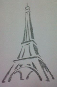 Love this drawing of the Eiffel Tower... I've tried to draw it but its not as good but still nice..