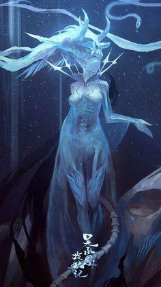 Drawing Tips Fantasy Dark Fantasy Art, Fantasy Artwork, Fantasy Character Design, Character Design Inspiration, Character Art, Anime Kunst, Anime Art, Mythical Creatures, Fantasy Characters