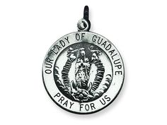 Sterling Silver Our Lady Of Guadalupe Medal Pendant Necklace - Chain Included