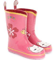 Main Image - Kidorable 'Cat' Waterproof Rain Boot (Walker, Toddler & Little Kid)