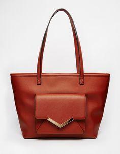 ASOS Front Pocket With V Bar Shoulder Bag