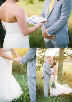intimate outdoor wedding ceremony http://www.weddingchicks.com/2013/09/06/intimate-country-elopement/