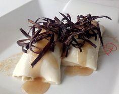 Cocina y más ...: Canelones de queso Sierra de Albarracín con berenjena, su crujiente y miel.