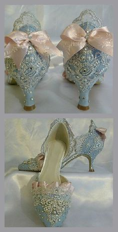 Blue Shoes | The Marie Antoinette Shoes Style | Masquerade Au Château | Rosamaria G Frangini