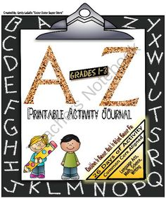 A-Z Countdown Activity Journal:Math,Reading,Writing,Science (Grades 1-3) from SisterSisterSuperStore on TeachersNotebook.com -  (28 pages)  - A-Z Countdown Activity Journal: Grades 1-3   3 Options Included with this Product: *Countdown to the end of 2nd grade *Summer countdown to 3rd grade *Working into a new school year for 3rd grade