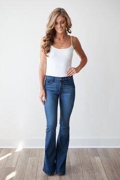 5 Pocket Skinny Flare Jeans - Magnolia Boutique