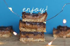 Salted Caramel Slice with Chelsea Raw Sugar
