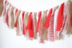 Red and Burlap Farmhouse Christmas by WithLoveKenzieAnn on Etsy