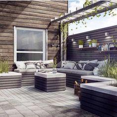Outdoor Seating Areas, Outdoor Rooms, Outdoor Gardens, Outdoor Living, Outdoor Furniture Sets, Outdoor Decor, Patio Design, Garden Design, Backyard Planters