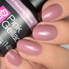 Pink Gellac Heavenly Mauve #rockyournails #swatches #notd #fallnails