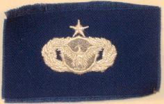 US AIR FORCE SENIOR SECURITY POLICE BADGE INSIGNIA BLUE FATIGUE UNIFORM PATCH