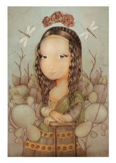 La Gioconda de Celene Nájera Mona Lisa, Princess Zelda, Disney Princess, Disney Characters, Fictional Characters, Fun, Animals, Image, Traditional